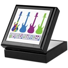 Guitar Music Keepsake Box