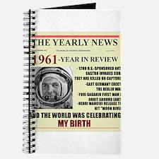 born in 1961 birthday gift Journal