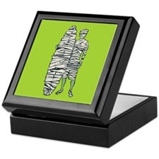 Surfing Halloween Mummy Keepsake Box