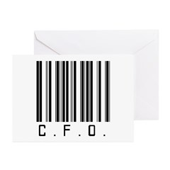 C.F.O. Barcode Greeting Cards (Pk of 20)