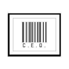 C.E.O. Barcode Framed Panel Print