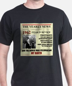 born in 1962 birthday gift T-Shirt