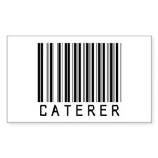Caterer Barcode Rectangle Decal