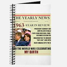 born in 1963 birthday gift Journal