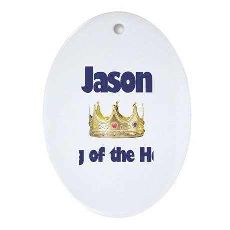 Jason - King of the House Oval Ornament