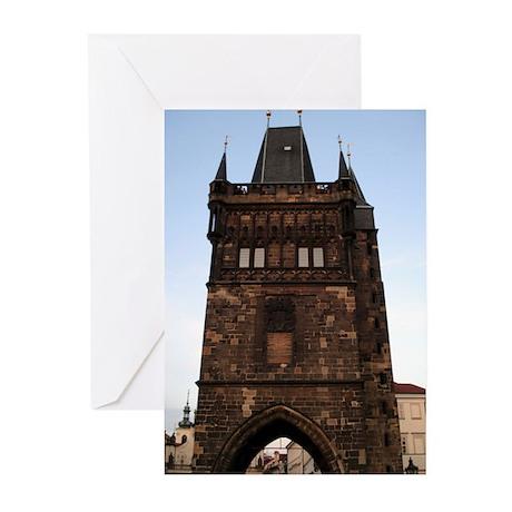 Charles Bridge -Prague, Czech Greeting Cards (Pk o