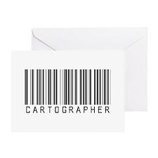 Cartographer Barcode Greeting Card