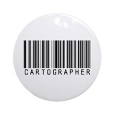 Cartographer Barcode Ornament (Round)