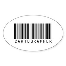 Cartographer Barcode Oval Decal