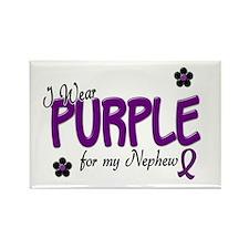 I Wear Purple For My Nephew 14 Rectangle Magnet