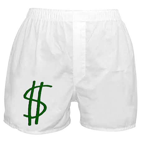 Money Dollar Sign Boxer Shorts