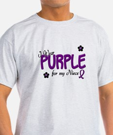 I Wear Purple For My Niece 14 T-Shirt