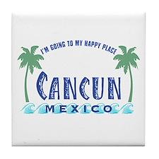 Cancun Happy Place - Tile Coaster