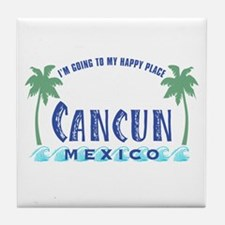 Cancun Happy Place - Tile Coaster