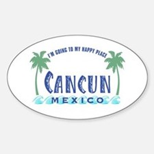 Cancun Happy Place - Oval Decal