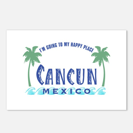 Cancun Happy Place - Postcards (Package of 8)