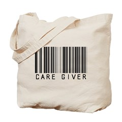 Care Giver Barcode Tote Bag