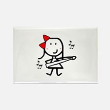 Girl & Marching Rifle Rectangle Magnet