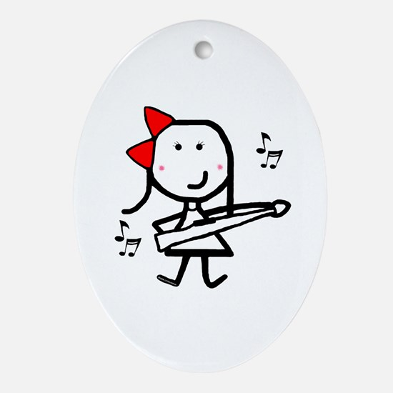 Girl & Marching Rifle Oval Ornament