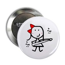 """Girl & Marching Rifle 2.25"""" Button"""