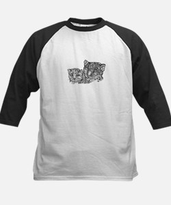 snow leopard mom and cub Tee