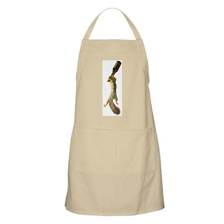 Squirrel with Beer BBQ Apron