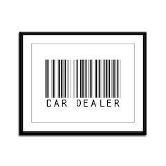 Car Dealer Barcode Framed Panel Print