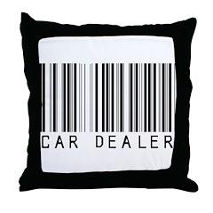 Car Dealer Barcode Throw Pillow
