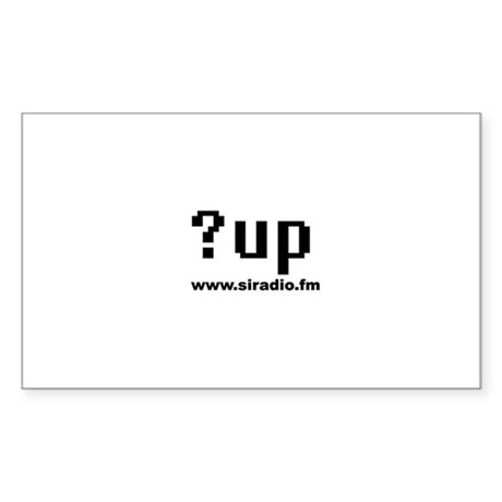 ?up Rectangle Sticker