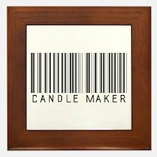 Candle Maker Barcode Framed Tile