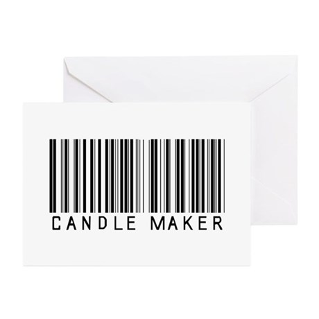 Candle Maker Barcode Greeting Cards (Pk of 10)