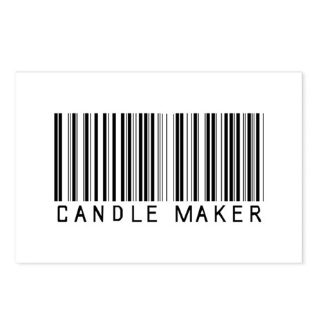 Candle Maker Barcode Postcards (Package of 8)