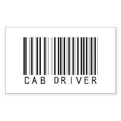 Cab Driver Barcode Rectangle Sticker 10 pk)