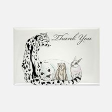 thank you card fur group Rectangle Magnet