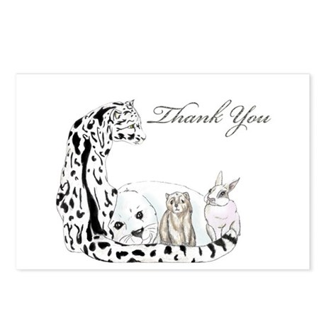 thank you card fur group Postcards (Package of 8)