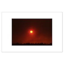 Fire Sun Set Large Poster