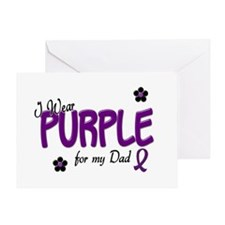 I Wear Purple For My Dad 14 Greeting Card