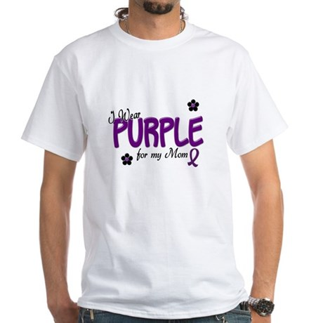 I Wear Purple For My Mom 14 White T-Shirt