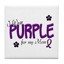 I Wear Purple For My Mom 14 Tile Coaster