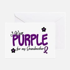 I Wear Purple For My Grandmother 14 Greeting Card