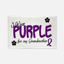 I Wear Purple For My Grandmother 14 Rectangle Magn