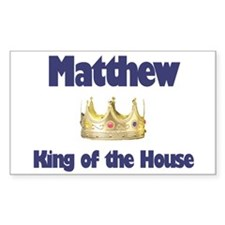 Matthew - King of the House Rectangle Decal