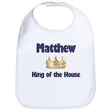 Matthew - King of the House Bib