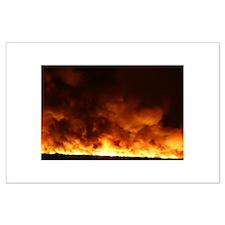 Elgin Fire. Phx AZ Large Poster