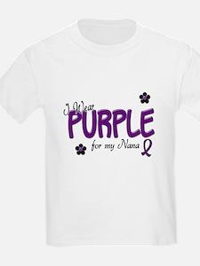 I Wear Purple For My Nana 14 T-Shirt