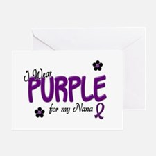 I Wear Purple For My Nana 14 Greeting Card