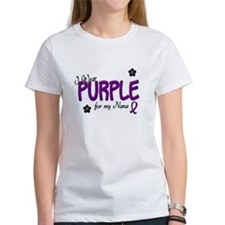 I Wear Purple For My Nana 14 Tee