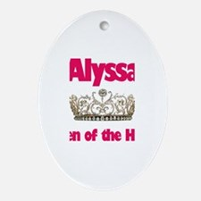 Alyssa - Queen of the House Oval Ornament