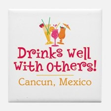 Drinks Well_Cancun - Tile Coaster