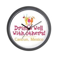 Drinks Well_Cancun - Wall Clock